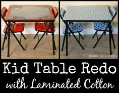 Kid Table Redo with Laminated Cotton – Auntie Em's Crafts, – Herzlich willkommen