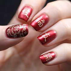Copycat Claws Chinese New Year Nail Art Aka Sunday Stamping for Nail Art For Chinese New Year - Fashion Style Ideas Nail Designs 2014, New Years Nail Designs, New Years Nail Art, Gel Nail Art Designs, Nail Designs Spring, Nails Design, Red Gel Nails, New Year's Nails, Green Nails