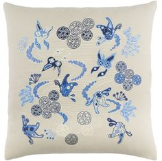 Chinese River Pillow Blue