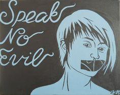 """""""Speak no evil"""" For sale by artist [set of 3]"""