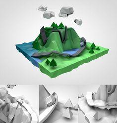 Self Dev. - Low poly 3D on Behance