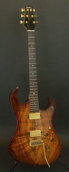 ASHER Ultra-Tone S-Custom Figured Koa top #asher #custom #electricguitar #eletricguitars #guitar #guitars