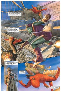 "Spider-Man - ""Marvels"" no. 4 by │Alex Ross, Kurt Busiek . Comic Book Artists, Comic Book Characters, Marvel Characters, Comic Artist, Comic Character, Comic Books Art, Stan Lee Spiderman, Comics Spiderman, Spiderman Movie"