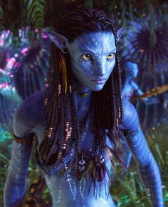 Neytiri, the princess of the movie - Avatar