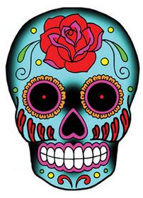 Rose Sugar Skull Sticker