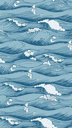 Wallpaper Ondas by Gocase Waves Wallpaper, Iphone Wallpaper Vsco, Homescreen Wallpaper, Iphone Background Wallpaper, Tumblr Wallpaper, Aesthetic Iphone Wallpaper, Cool Wallpaper, Aesthetic Wallpapers, Surfing Wallpaper