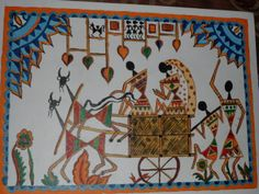 Warli painting by me