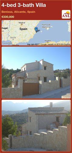 4-bed 3-bath Villa in Benissa, Alicante, Spain ►€330,000 #PropertyForSaleInSpain