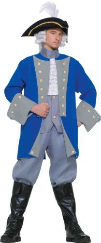Colonial General Adult Costume One size fits up to a chest size 42 Buy Costumes, Costumes For Teens, Halloween Party Costumes, Adult Costumes, Costume Ideas, Hipster Shirts, Cute Shirts, Party Accessories, Costume Accessories