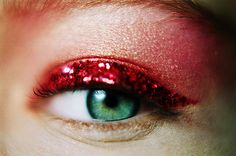 Katya. 2011. --- I like glitter like this on eyelids (I like other colors better than red though).
