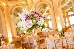 Posy - Wedding centerpiece - pastel wedding - the Westin Columbus , gold wedding