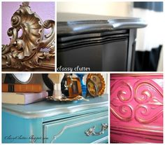 4 fun furniture painting techniques - Classy Clutter ... Metalic accents on furniture