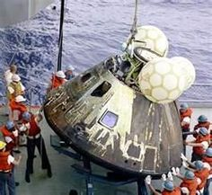 Apollo 13was the seventh manned mission in the American Apollo space programand the third intended to land on the Moon.The craft was launched on April 11, 1970,from Kennedy Space Center, FL, but the mission was abortedafter an oxygen tank exploded.Thecrew returned safely to Earth on April 17.