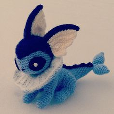 Vaporeon Pokemon Crochet Amigurumi by SirPurlGrey on Etsy, $40.00