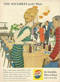 Pepsi Cola Original 1959 Vintage Print Ad Color by VintageAdarama, $9.99