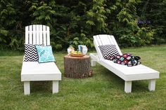 Ana White | Build a $35 Wood Chaise Lounges | Free and Easy DIY Project and Furniture Plans