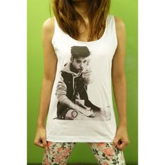 d89efdac149f3f Justin Bieber 2012 - Singer Billboard Pop Womens Tank Top Printed White T  Shirt Light and Soft ( 16) found on Polyvore