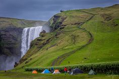 Skógafoss by Tashfeen Karamat Golf Courses, Waterfall, Landscapes, Photography, Outdoor, Fotografie, Paisajes, Photograph, Outdoors