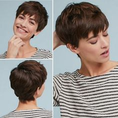 Short Hairstyles For Thick Hair, Pixie Hairstyles, Pixie Haircut, Short Hair Cuts, Short Hair Styles, Haircuts, Pixie Cut Wig, Short Pixie, Natural Looking Wigs