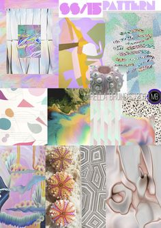 Inspiration/Information. Mirella Bruno. SS/15.  Personal Print/Colour Directions for upcoming future collections.