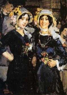 Isaac Lazarus Israëls (Dutch, 1865 - 1934) Two Women (Chatherinettes)Paris, Sun