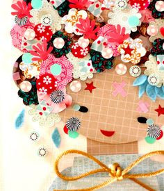 Paper Doll 027. Original Paper Collage. by KupKupLand on Etsy