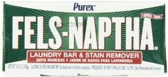 Fels Naptha Laundry Bar and Stain Remover, Oz . Stain remover to test. Laundry Detergent Recipe, Powder Laundry Detergent, Homemade Detergent, Laundry Stain Remover, Fels Naptha, Soap Packing, Grease Stains, Homemade Cleaning Products, Laundry Hacks