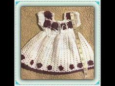 Lavender Grace Beautiful Crochet Spring Baby Dress DIY tutorial - YouTube