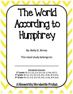 """Room 26's class pet, Humphrey, teaches his classmates many important lessons in Betty G. Birney's first """"Humphrey"""" series…"""