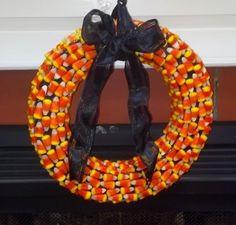 Halloween wreath; Halloween crafts; Halloween candy