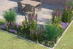 Et blomsterbed foran et hus - Vintage Modern Garden Design, Landscape Design, Jardin Decor, Design Jardin, Garden Planner, Landscaping With Rocks, Landscaping Ideas, Garden Landscaping, Garden Pool