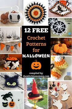 12 Free Halloween-Themed Crochet Patterns compiled by The Stitchin' Mommy | http://www.thestitchinmommy.com