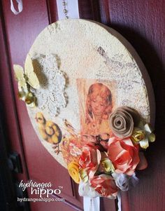 How to Make Vintage Easter Door or Wall Hanging with Craft Attitude | Hydrangea Hippo by Jennifer Priest