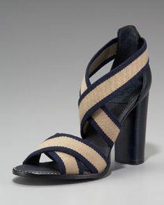 Tory Burch Laurie Stretch High-Heel Sandal