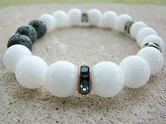 Scent Diffuser, Gemstone, Essential Oil Bracelet, Stretchy Bracelet, Lava Bead Bracelet, Diffuser Bracelet, Essential Oil, Aromatherapy by BeJeweledByCandi on Etsy