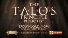 Like puzzle games? Then you must try this!^ The Talos Principle - Public Test Trailer On Steam: http://store.steampowered.com/app/330710/