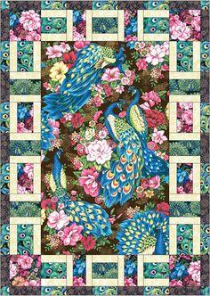 Peacocks- Quilt-1.jpg (603×850)