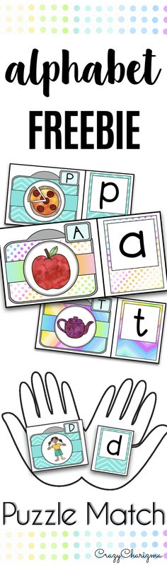 These are FREE quick just print and cut puzzles to practice alphabet recognition. Use these alphabet activities for preschool kids - they will match capital and low case letters with these cameras and photos. | CrazyCharizma
