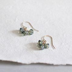 brontë - glass bead earrings by elephantine