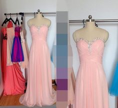 Hey, I found this really awesome Etsy listing at https://www.etsy.com/listing/216234475/long-light-pink-prom-dress-chiffon