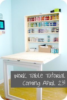 A Dream Craft Table Fold-Out by loracia