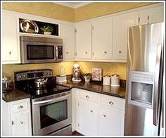 The Shelf Above Microwave Is A Great Solution For Replacing My Range Hood With