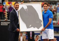 Will Smith presenting Federer with his MEN IN BLACK SUIT I WOULD SLAY MY FAMILY TO HAVE THIS IN MY HOUSE