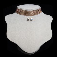 Beaded Crystal Choker Necklace