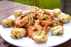 Herbed Citrus Grilled Shrimp and Scallops from The Woks of Life