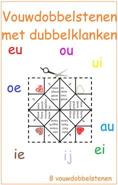 Dubbelklanken vouwdobbelstenen - Digibord Onderbouw Classroom Language, A Classroom, Learn Dutch, School Items, A Blessing, Primary School, Speech Therapy, School Projects, Kids Learning