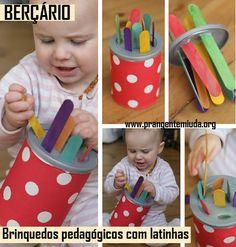 Brinquedos pedagógicos reciclados para berçário | Pra Gente Miúda