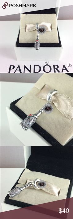 398e0d978 New Pandora Celebration Time Dangle Charm 792152CZ 100% Authentic Pandora  Celebration Time Dangle Charm Pandora