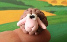 Little sheep  a Polymer  Clay Creation by Bdbworld on di bdbworld, $6,00