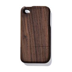 Solid Dark Walnut iPhone 4 Case  By Jonathan Boos